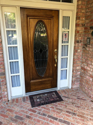 Refinished-door-stained-and-clear-coat-added
