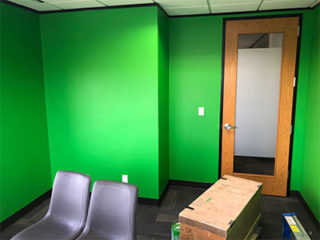 Office Painted Green