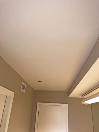 Bedroom - painted ceiling white and walls Grey