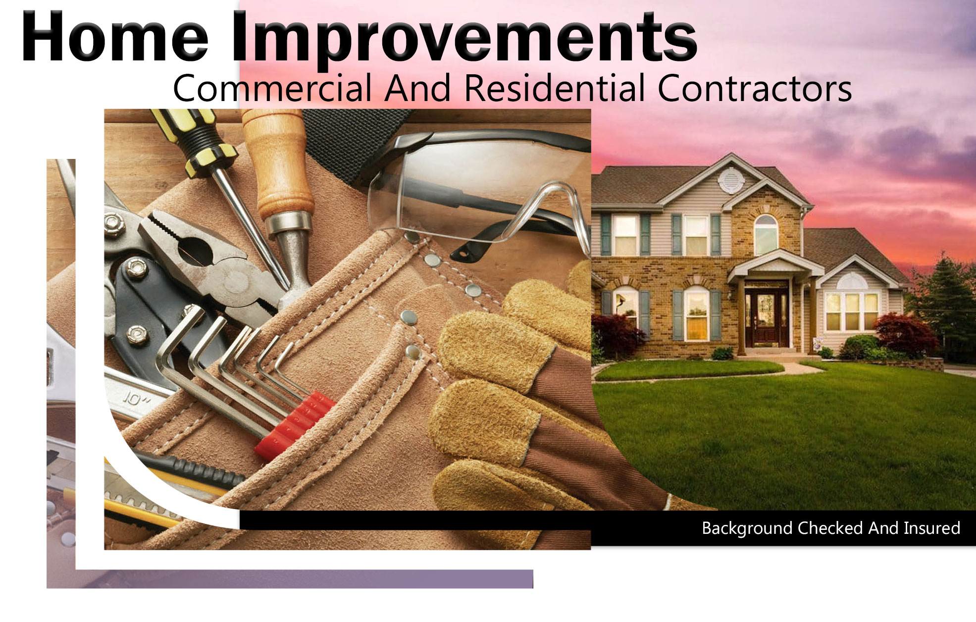 Small Task, LLC Website Banner Home Improvements And Repairs, Residential And Commercial Contractors